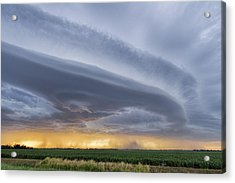 Acrylic Print featuring the photograph Shelf Clouds by Rob Graham