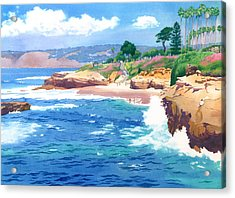 Shell Beach La Jolla Acrylic Print by Mary Helmreich