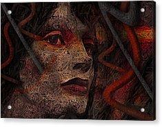 Shell Cyborg Portrait Acrylic Print