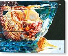 Shell Game Acrylic Print by Arlene Steinberg