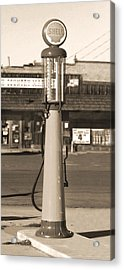 Shell Gas - Wayne Visible Gas Pump 2 Acrylic Print by Mike McGlothlen