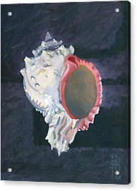 Acrylic Print featuring the painting Shell In Opaque Sea by Katherine Miller