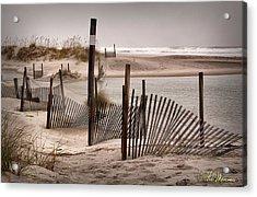 Acrylic Print featuring the photograph Shell Island Hurricane Sandy by Phil Mancuso