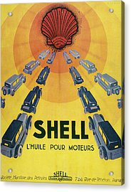 Shell Oil For Cars         Date 1929 Acrylic Print by Mary Evans Picture Library