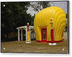 Shell Oil Gas Station Acrylic Print by James C Thomas