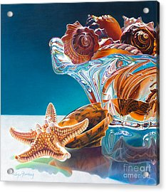 Shell Shocked Acrylic Print by Arlene Steinberg