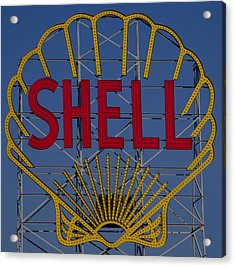 Shell Sign Cambridgeside Acrylic Print