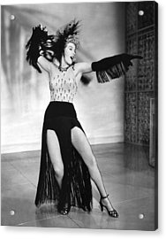 Shelley Winters Performing Acrylic Print