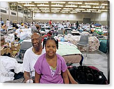 Shelter For Hurricane Katrina Survivors Acrylic Print by Jim West