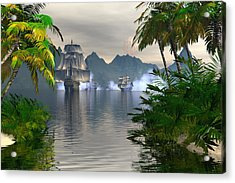 Acrylic Print featuring the digital art Shelter Harbor Longshot by Claude McCoy