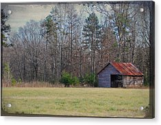 Shelter In The Midle Of Nowhere Acrylic Print by Paulette B Wright