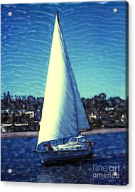 Shelter Island Sailing Acrylic Print