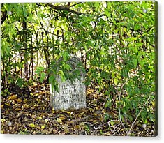 Sheltered Grave Acrylic Print by The GYPSY And DEBBIE