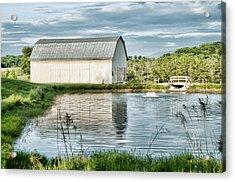 Shenandoah Barn Reflection Acrylic Print by Lara Ellis