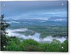 Shenandoah Evening Fog Acrylic Print by Lara Ellis