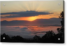 Shenandoah Morning Sunrise Fog  Acrylic Print