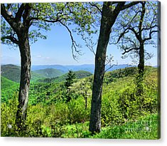 Shenandoah Mountain Ridge Acrylic Print by Scott Cameron