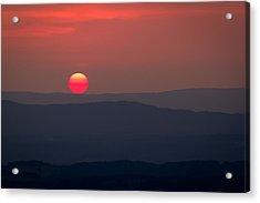 Shenandoah Sunset Acrylic Print by David Cote