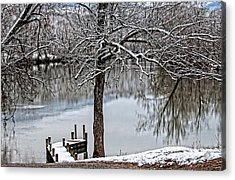 Shenandoah Winter Serenity Acrylic Print