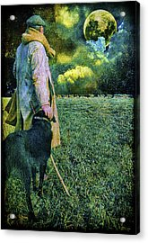 Shepherd And Moon Acrylic Print