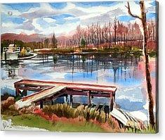 Shepherd Mountain Lake In Winter Acrylic Print by Kip DeVore