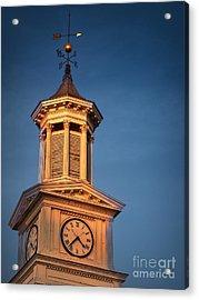 Shepherd University - Mcmurran Clock Tower At Twilight Acrylic Print by Julia Springer