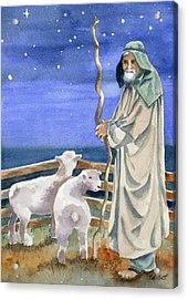 Shepherds Watched Their Flocks By Night Acrylic Print