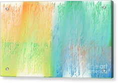 Sherbet Abstract Acrylic Print by Andee Design