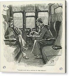 Sherlock Holmes And Dr. Watson Acrylic Print