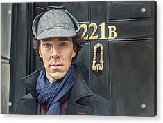 Acrylic Print featuring the painting Sherlock Holmes Artwork by Sheraz A