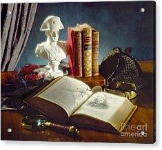 Sherlock Holmes Napoleon Acrylic Print by Martin Konopacki