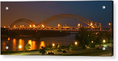 Sherman Minton Bridge - New Albany Acrylic Print by Mike McGlothlen