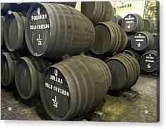Sherry Barrels Acrylic Print by Louise Murray