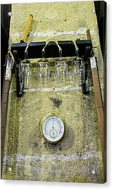 Sherry Glasses And Tools Acrylic Print by Louise Murray
