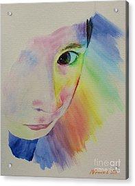 She's A Rainbow Acrylic Print