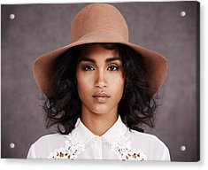 She's Got Style Acrylic Print by PeopleImages