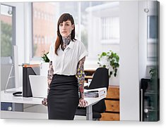 She's Ready To Rock The Corporate Scene Acrylic Print by PeopleImages