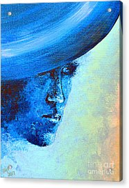 Shi Di Has The Blues Poster Acrylic Print by Alys Caviness-Gober