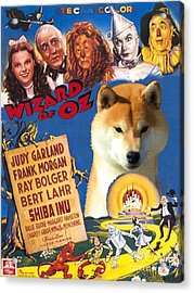 Shiba Inu Art Canvas Print - The Wizard Of Oz Movie Poster Acrylic Print