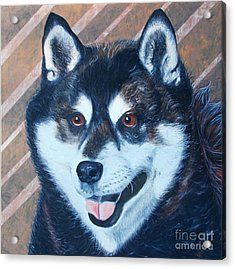 Acrylic Print featuring the painting Shiba Inu by PainterArtist FINs husband Maestro