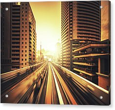 Shibaura Business Area In Tokyo - Japan Acrylic Print by Franckreporter