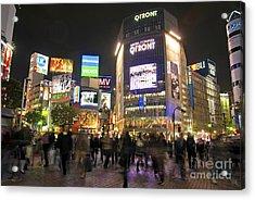 Shibuya Crossing At Night Tokyo Japan  Acrylic Print