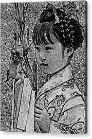 Shichi-go-san Girl Acrylic Print