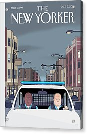 Shift Acrylic Print by Chris Ware