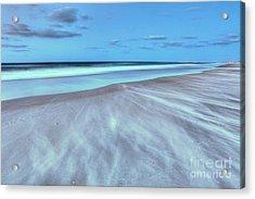 Shifting Sands On Frisco Beach Outer Banks I Acrylic Print by Dan Carmichael