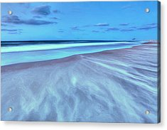 Shifting Sands On Frisco Beach Outer Banks II Acrylic Print by Dan Carmichael
