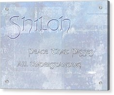 Shiloh - Peace That Passes Understanding. Acrylic Print by Christopher Gaston