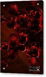 Shimmer In Red Acrylic Print