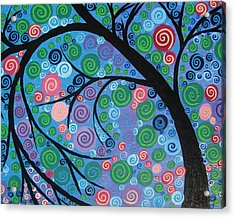 Shimmer Tree Acrylic Print by Cathy Jacobs