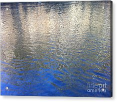 Shimmering Gold Acrylic Print